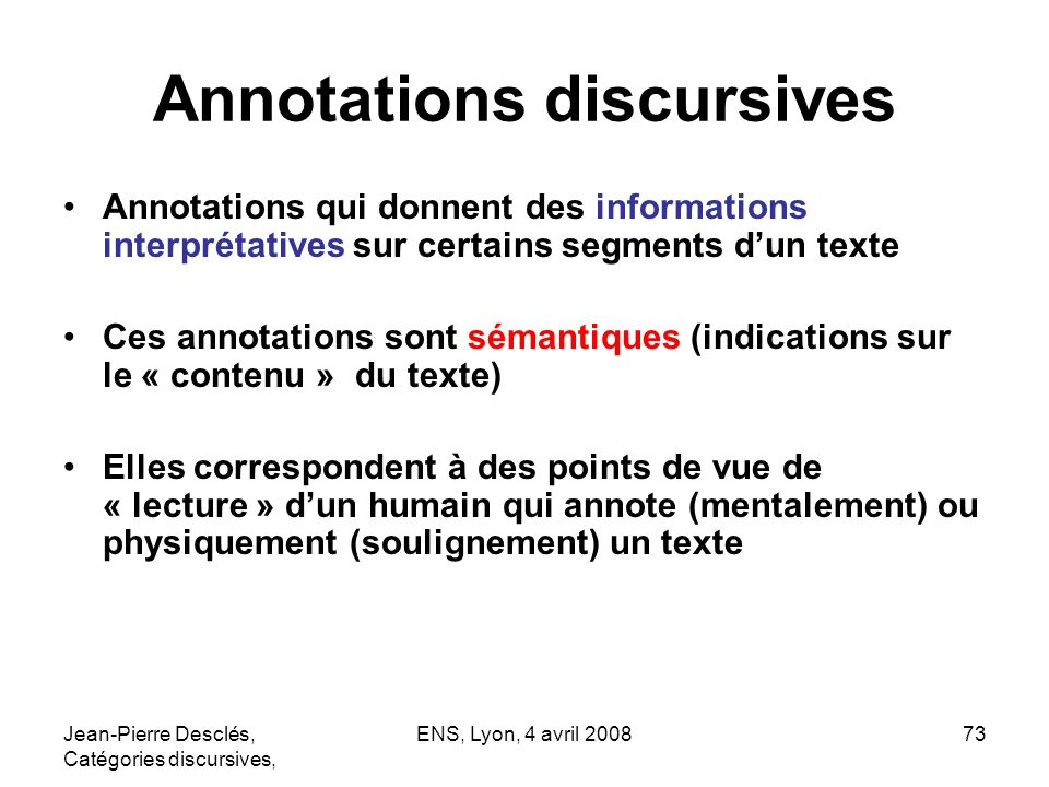 Annotations discursives