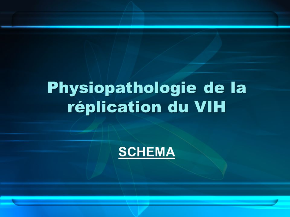 Physiopathologie de la réplication du VIH