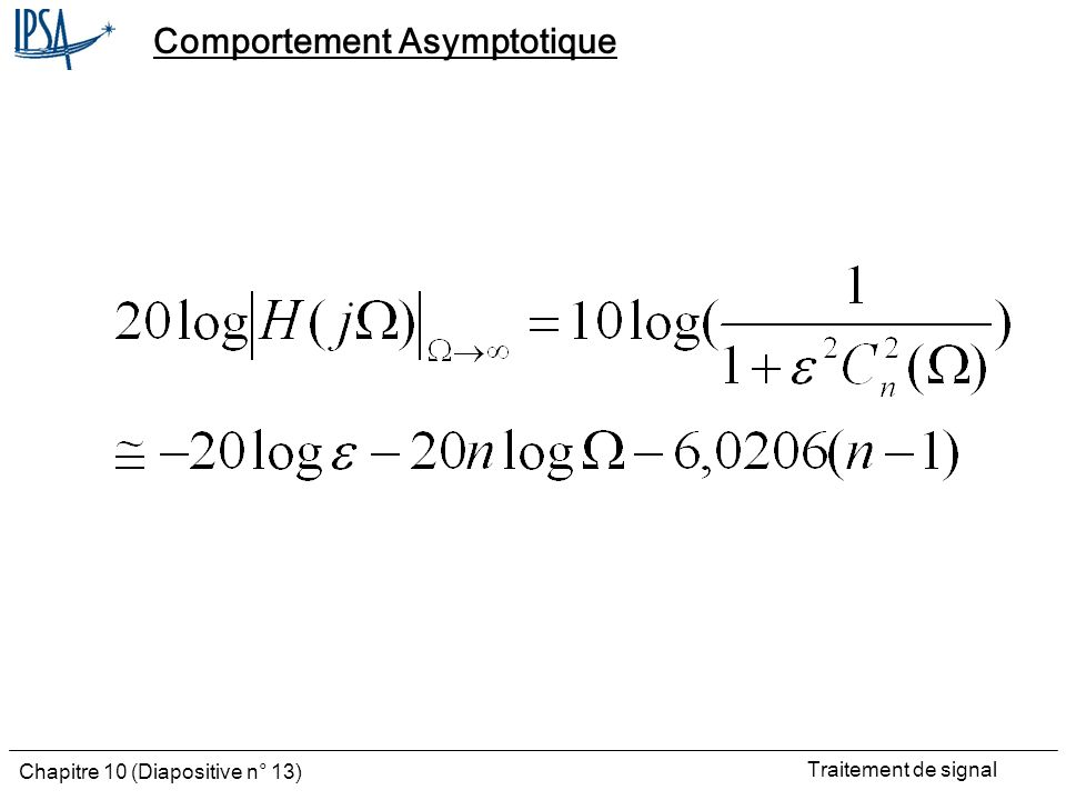 Comportement Asymptotique