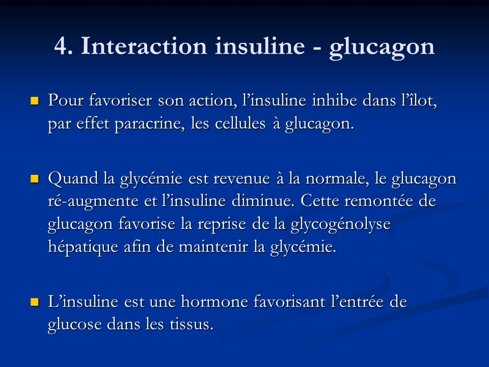 4. Interaction insuline - glucagon