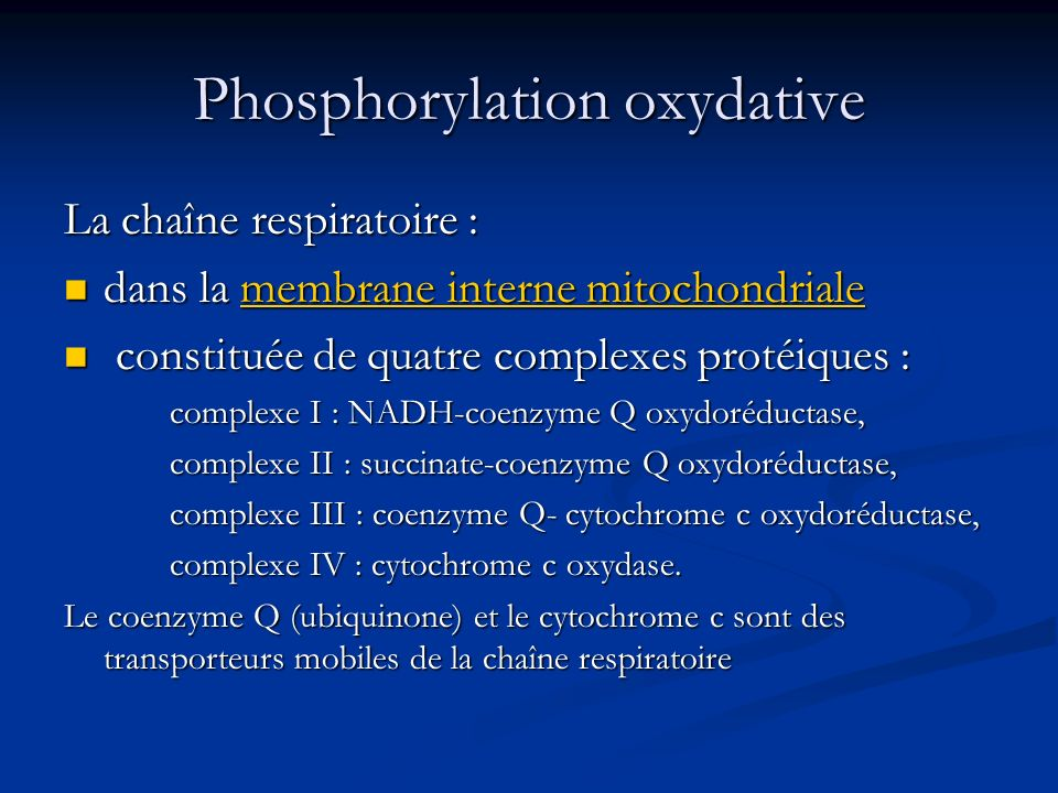 Phosphorylation oxydative