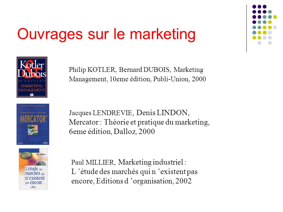 Ouvrages sur le marketing
