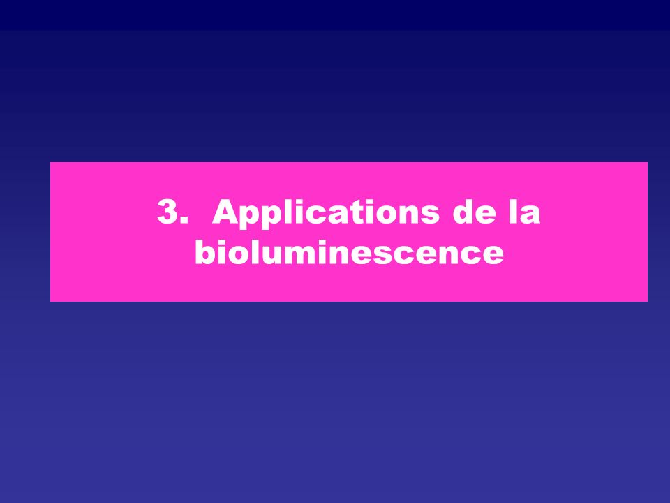 3. Applications de la bioluminescence