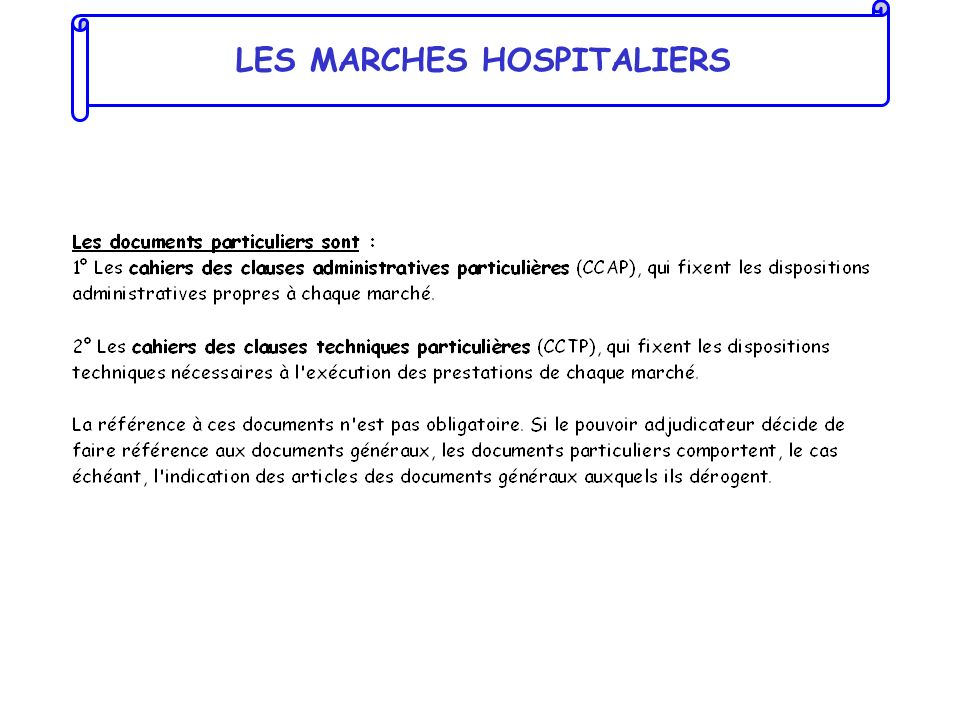 LES MARCHES HOSPITALIERS