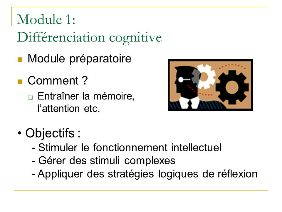Module 1: Différenciation cognitive