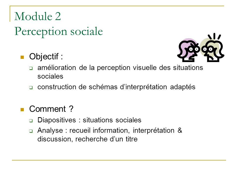 Module 2 Perception sociale