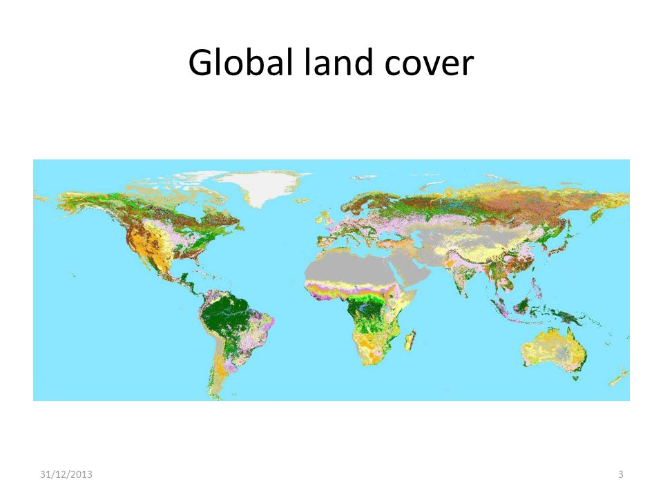 Global land cover 25/03/2017