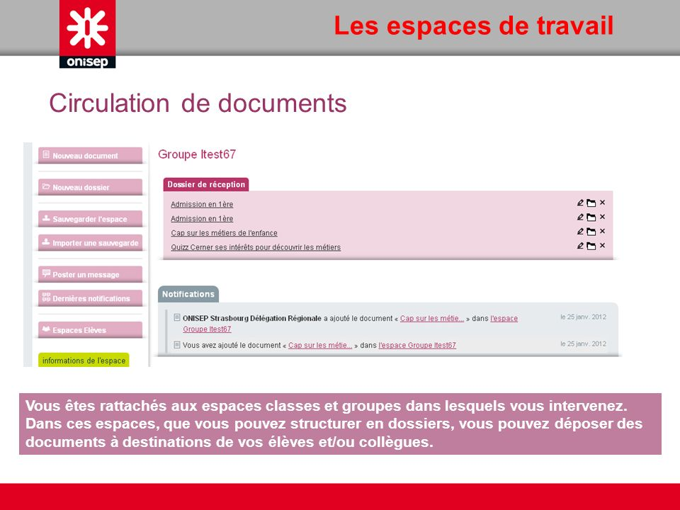 Circulation de documents