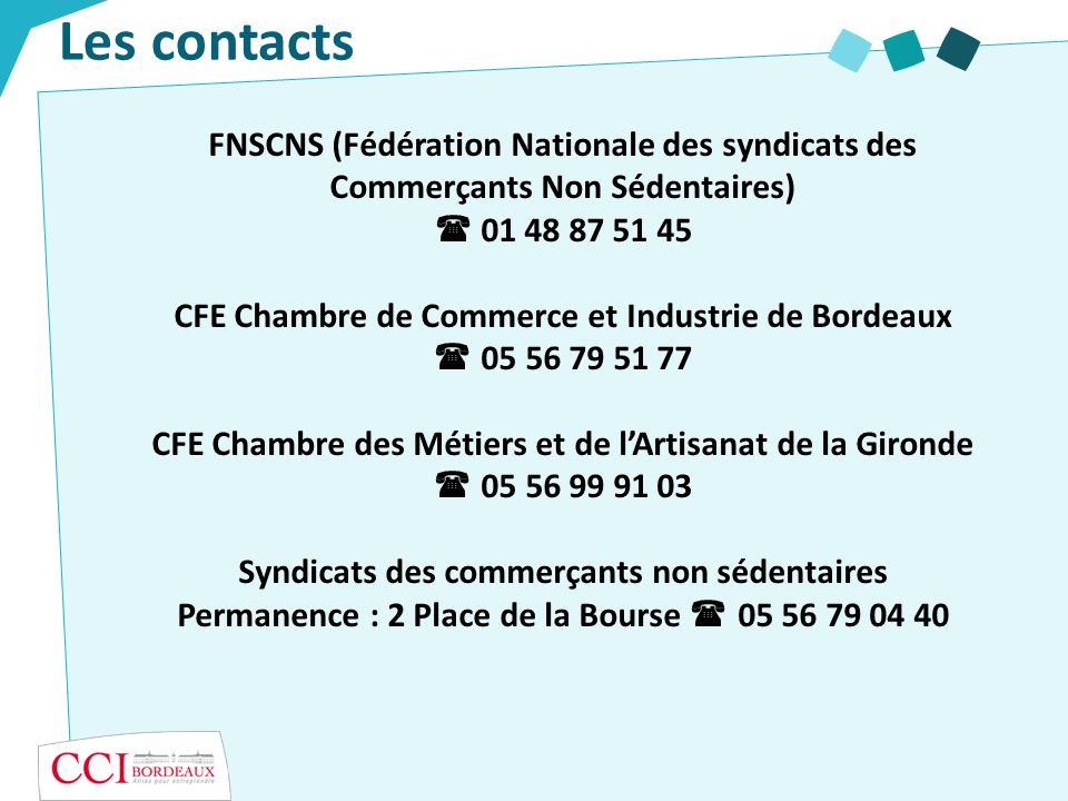 Les contacts FNSCNS (Fédération Nationale des syndicats des