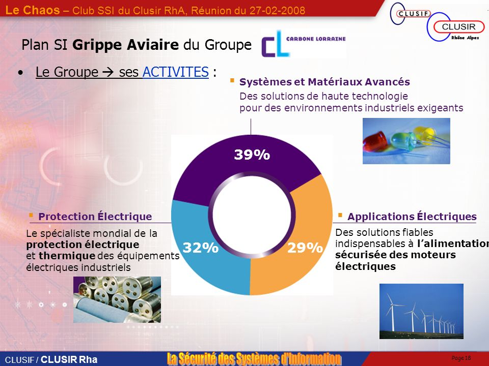 Plan SI Grippe Aviaire du Groupe
