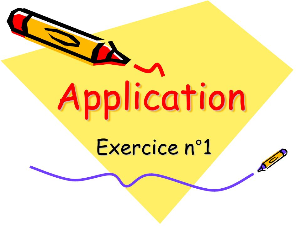 Application Exercice n°1