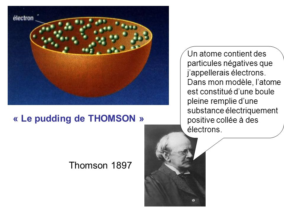 « Le pudding de THOMSON »