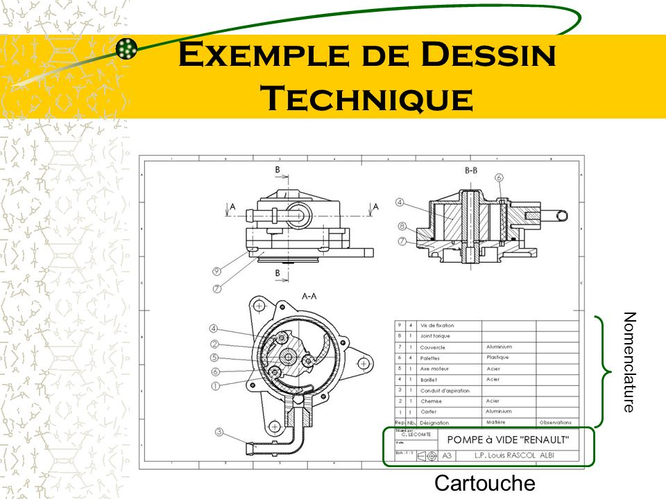 Exemple de Dessin Technique