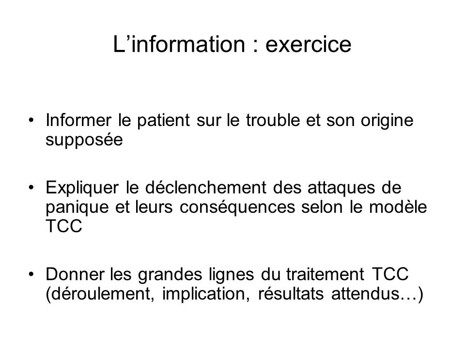 L'information : exercice