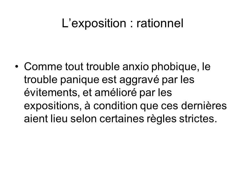 L'exposition : rationnel