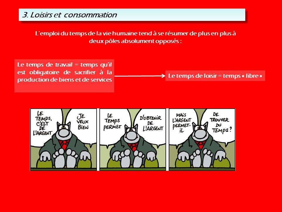3. Loisirs et consommation