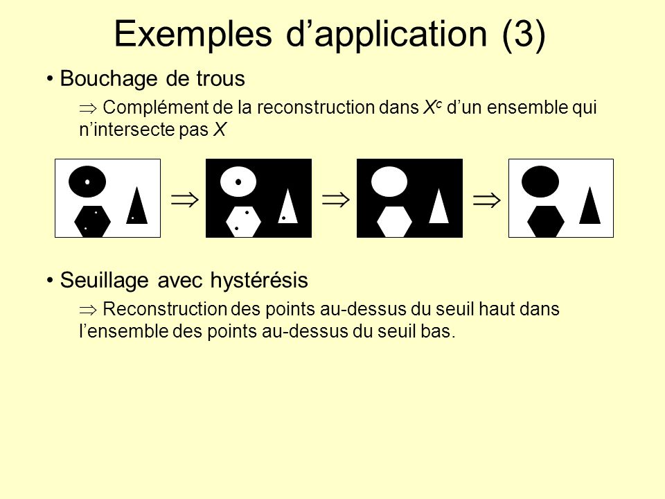 Exemples d'application (3)