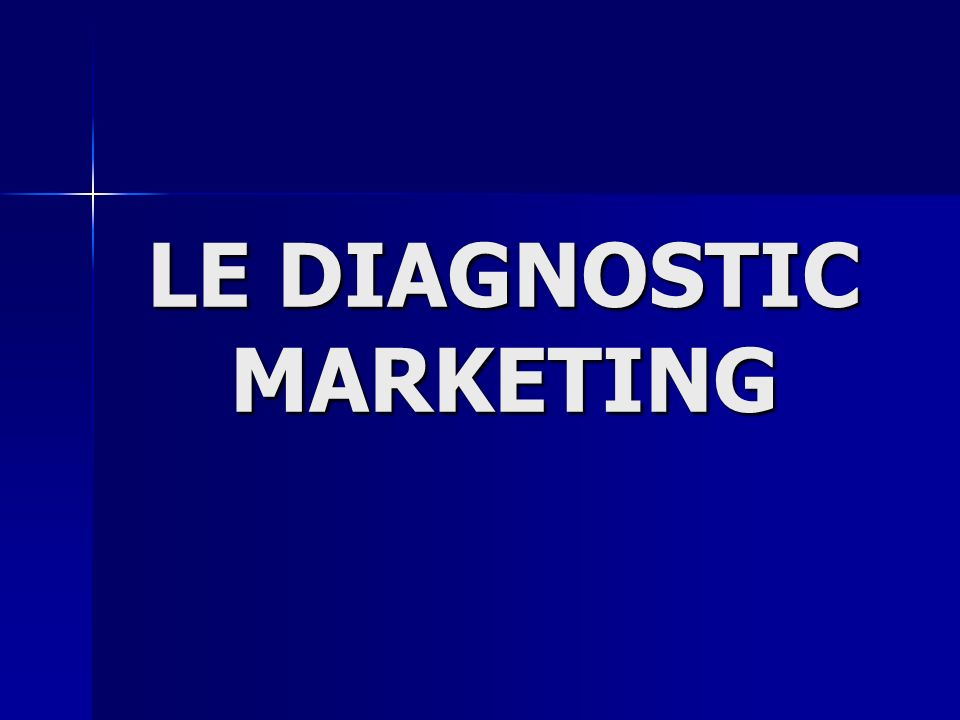 LE DIAGNOSTIC MARKETING