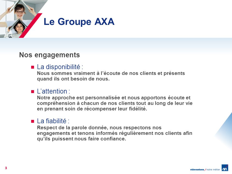 Le Groupe AXA Nos engagements