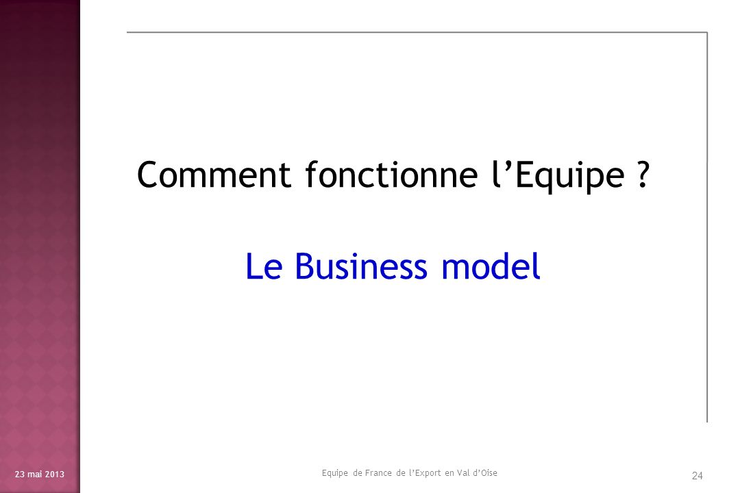 Comment fonctionne l'Equipe Le Business model
