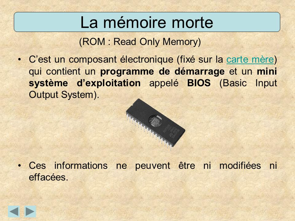 (ROM : Read Only Memory)