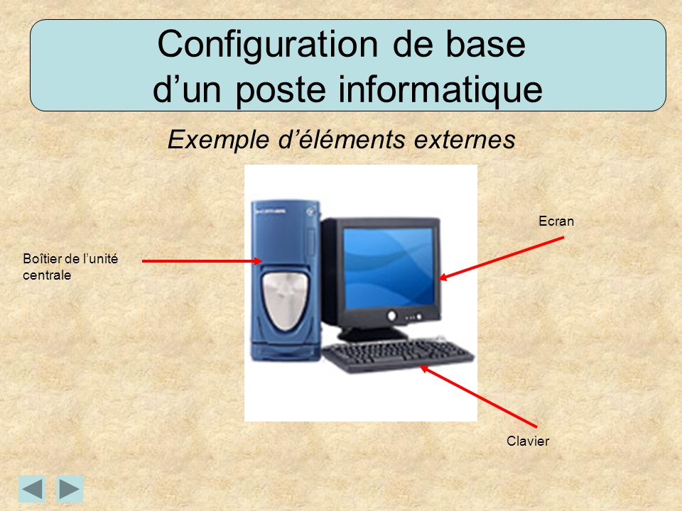 Configuration de base d'un poste informatique