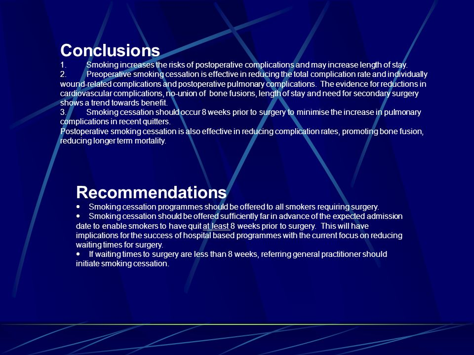 Conclusions Recommendations