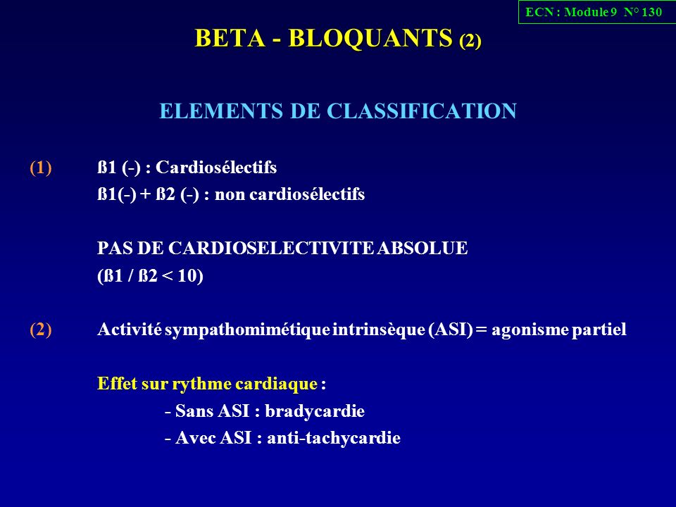 ELEMENTS DE CLASSIFICATION