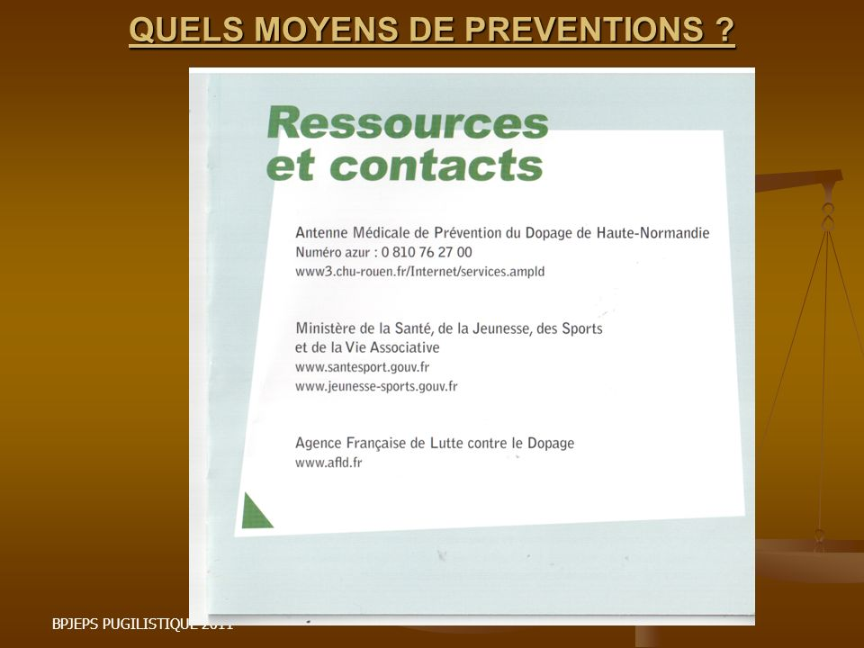QUELS MOYENS DE PREVENTIONS