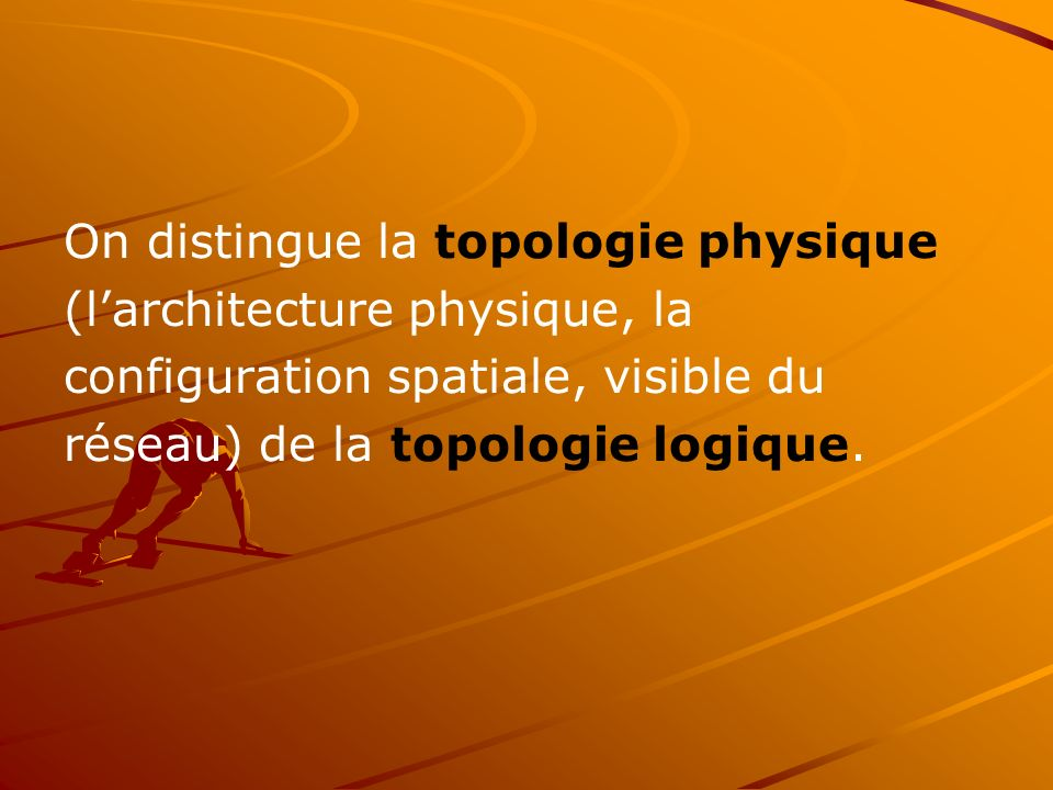 On distingue la topologie physique