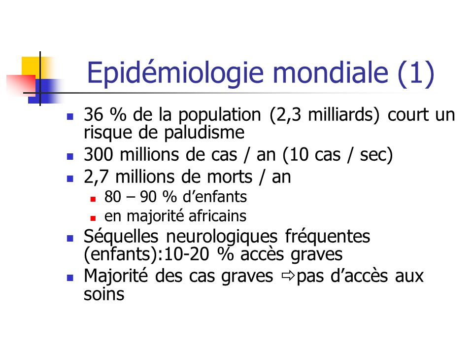 Le Paludisme (malaria). - ppt video online télécharger