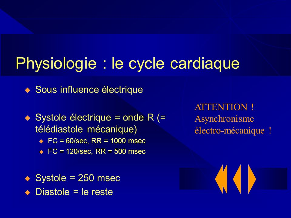 Physiologie : le cycle cardiaque