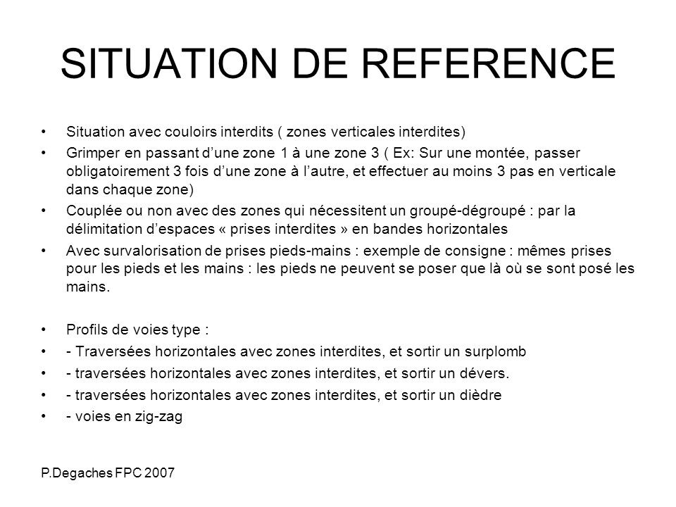 SITUATION DE REFERENCE