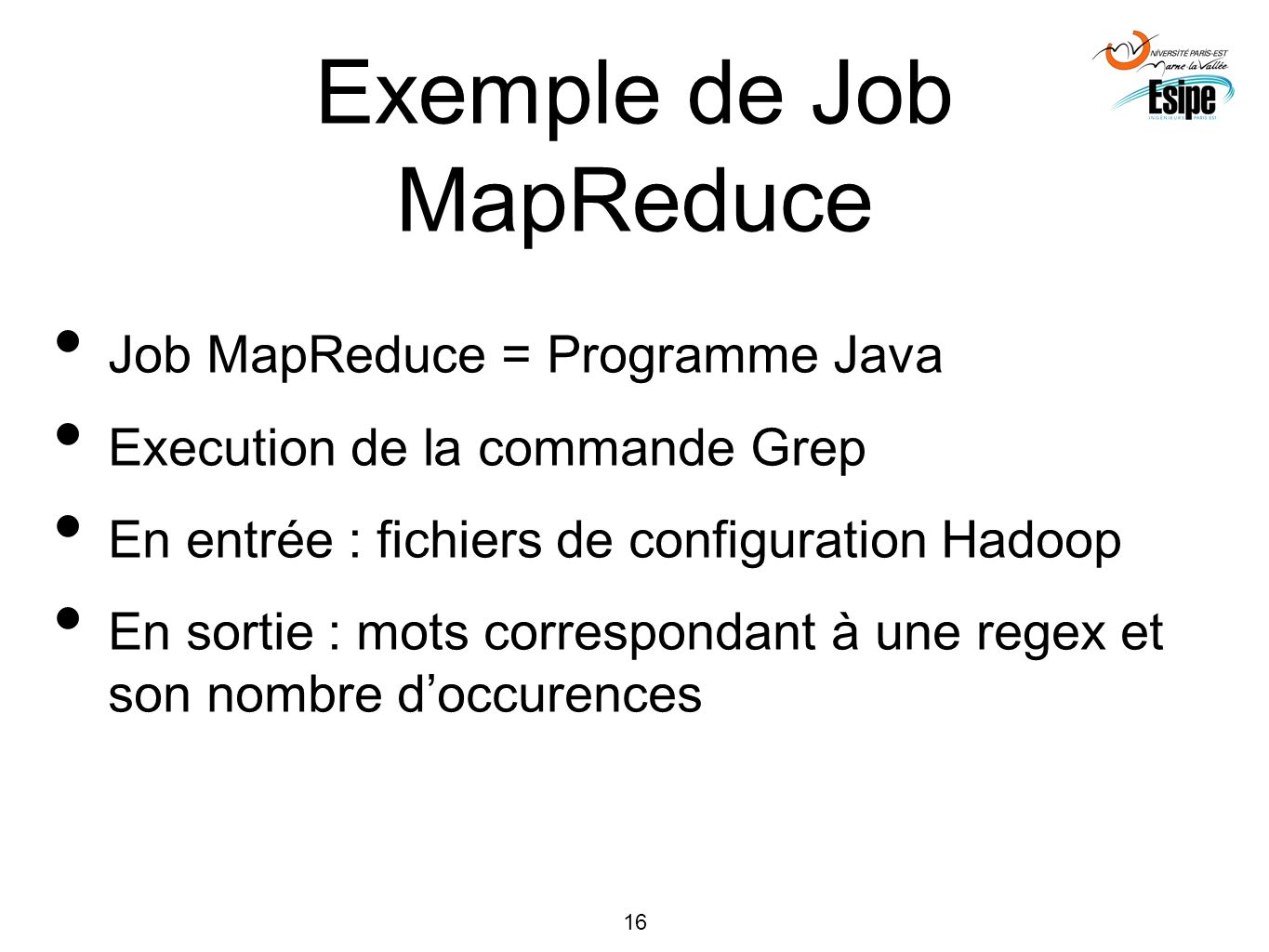 Exemple de Job MapReduce