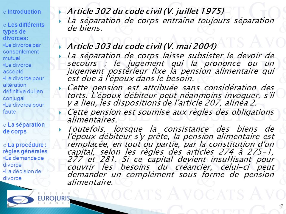 Article 302 du code civil (V. juillet 1975)