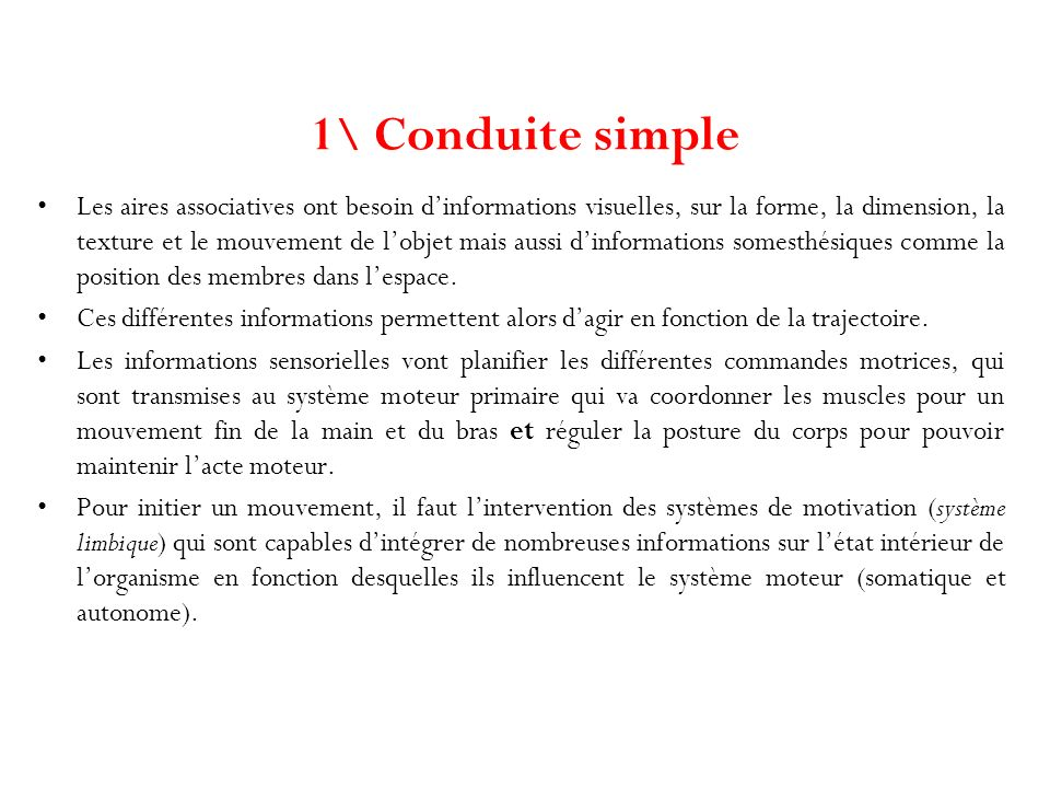 1\ Conduite simple