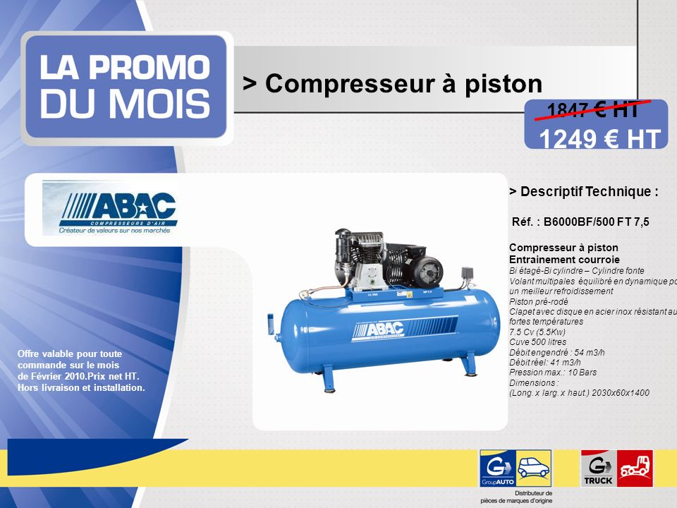 > Compresseur à piston