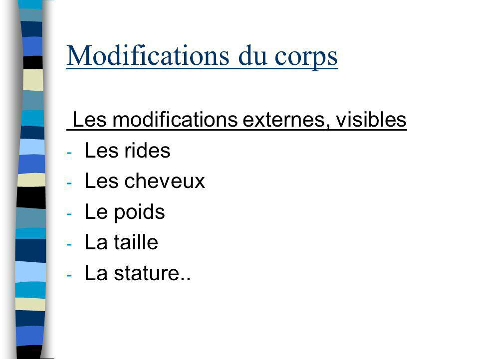 Modifications du corps