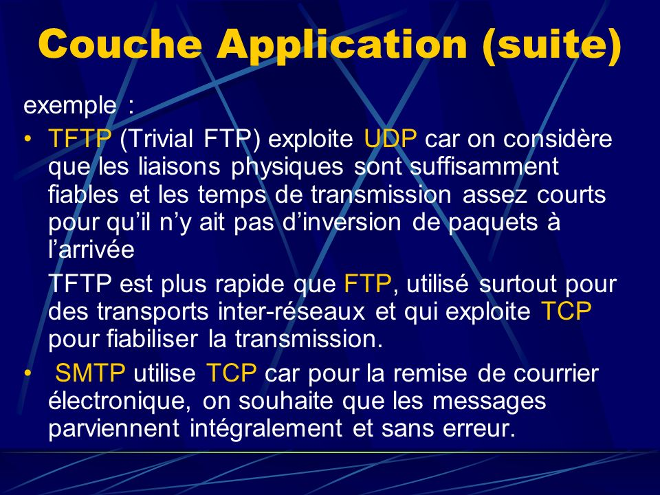 Couche Application (suite)