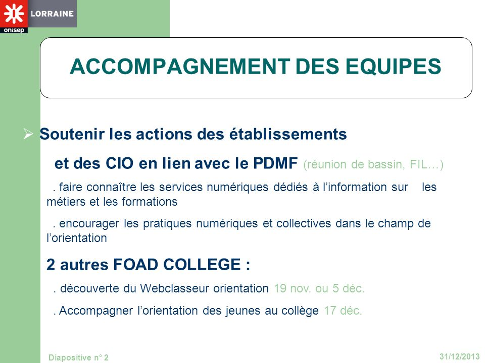 ACCOMPAGNEMENT DES EQUIPES