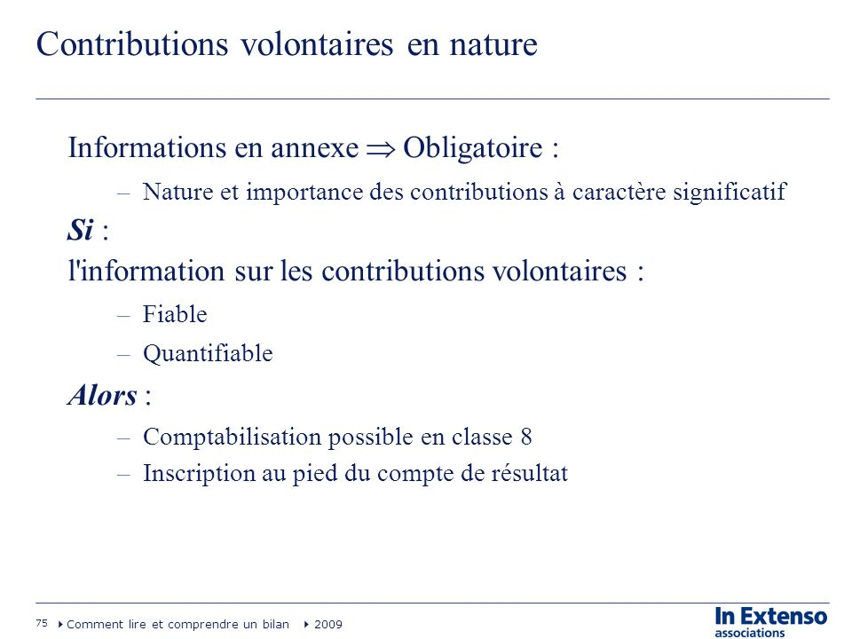 Contributions volontaires en nature