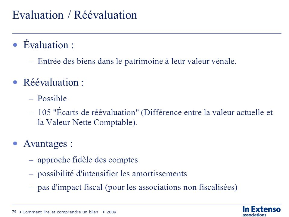 Evaluation / Réévaluation