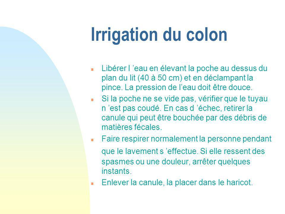 Irrigation du colon