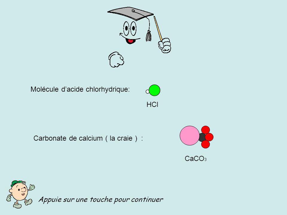 réaction carbonate de calcium acide chlorhydrique