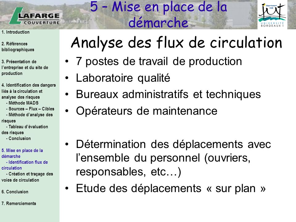 Analyse des flux de circulation