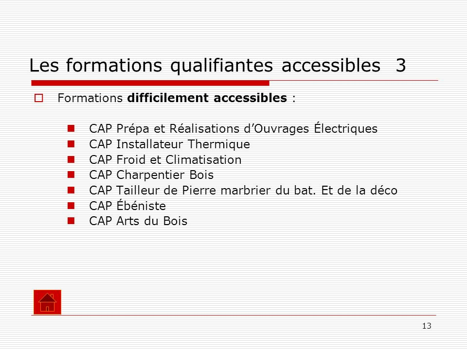 Les formations qualifiantes accessibles 3