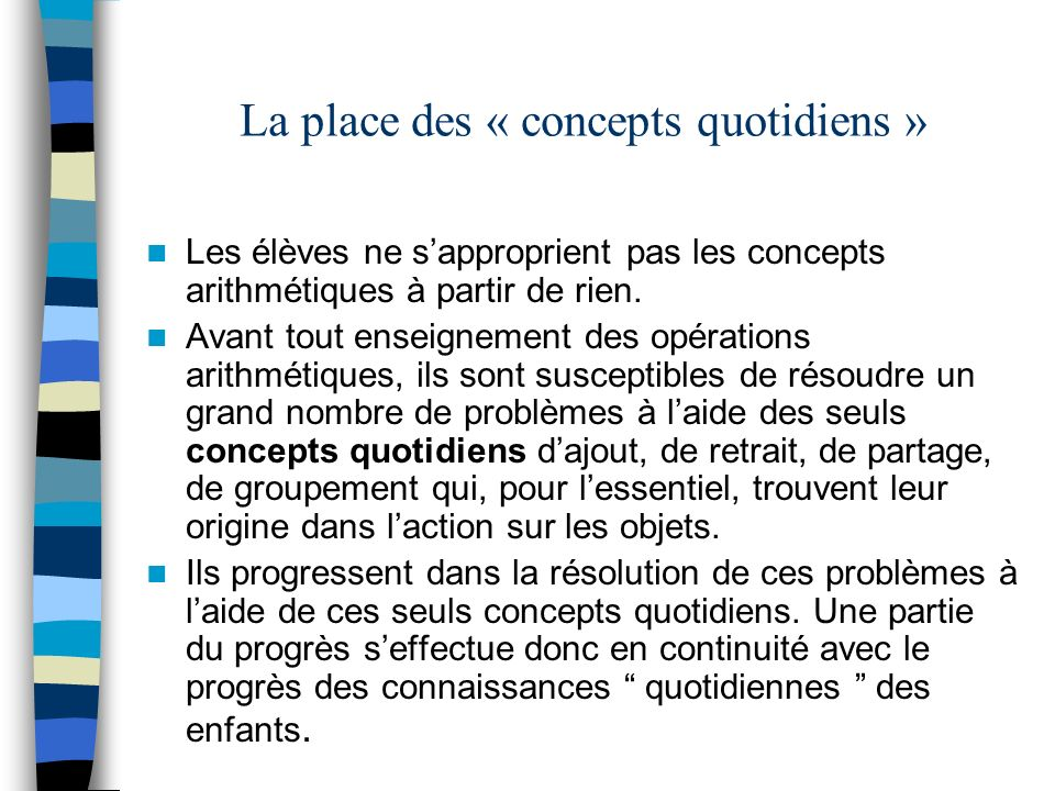 La place des « concepts quotidiens »