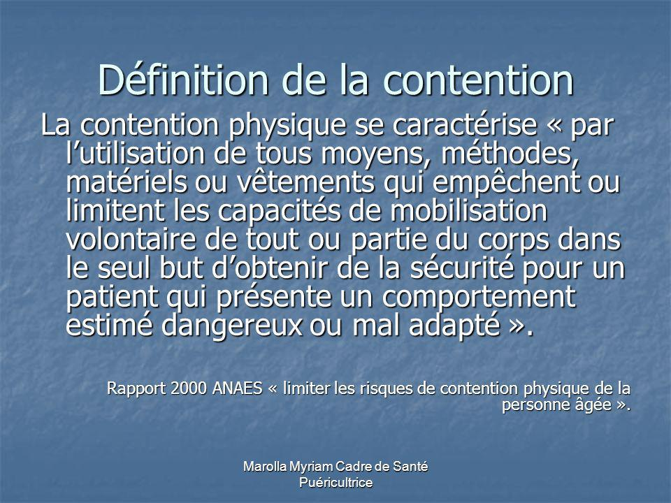Définition de la contention