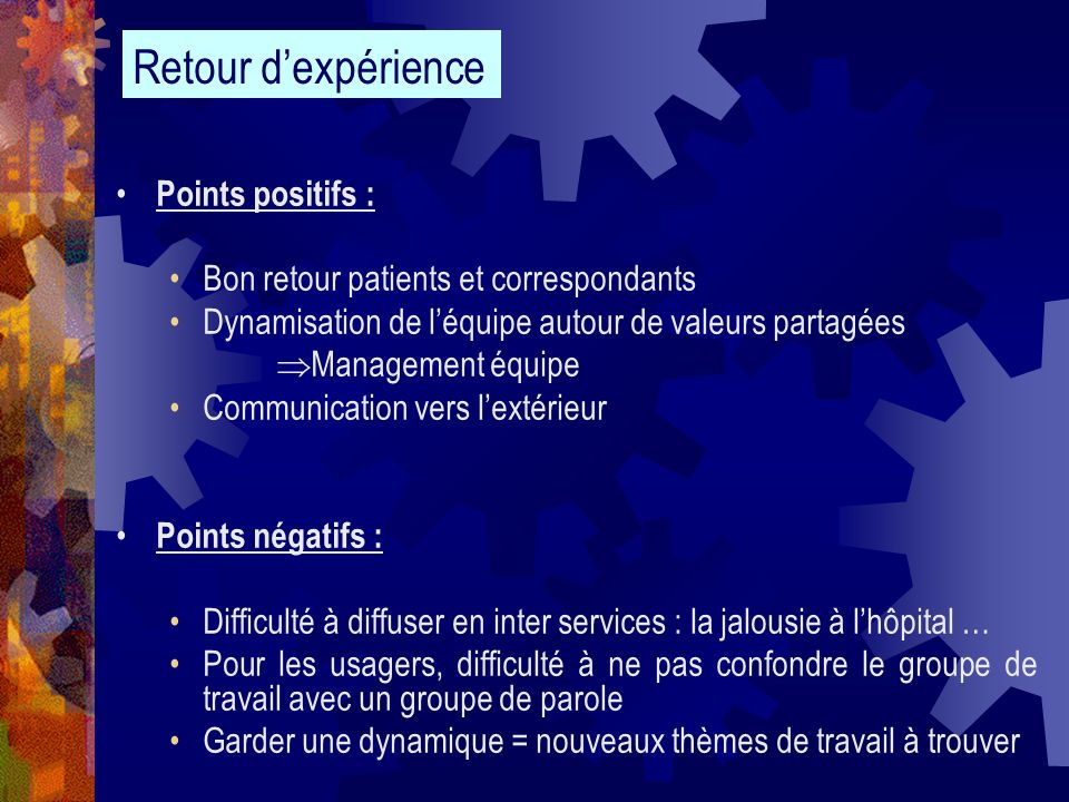 Bon retour patients et correspondants