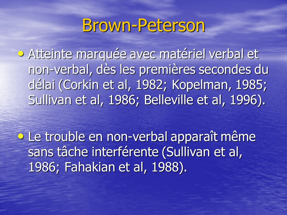 Brown-Peterson